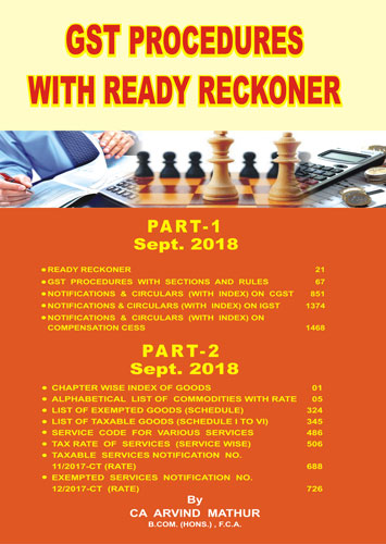 GST PROCEDURES WITH READY RECKONER