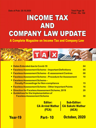 INCOME TAX & COM. LAW UPDATE ENGLISH