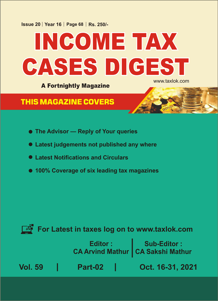 Income-Tax Cases Digest Magazine Cover