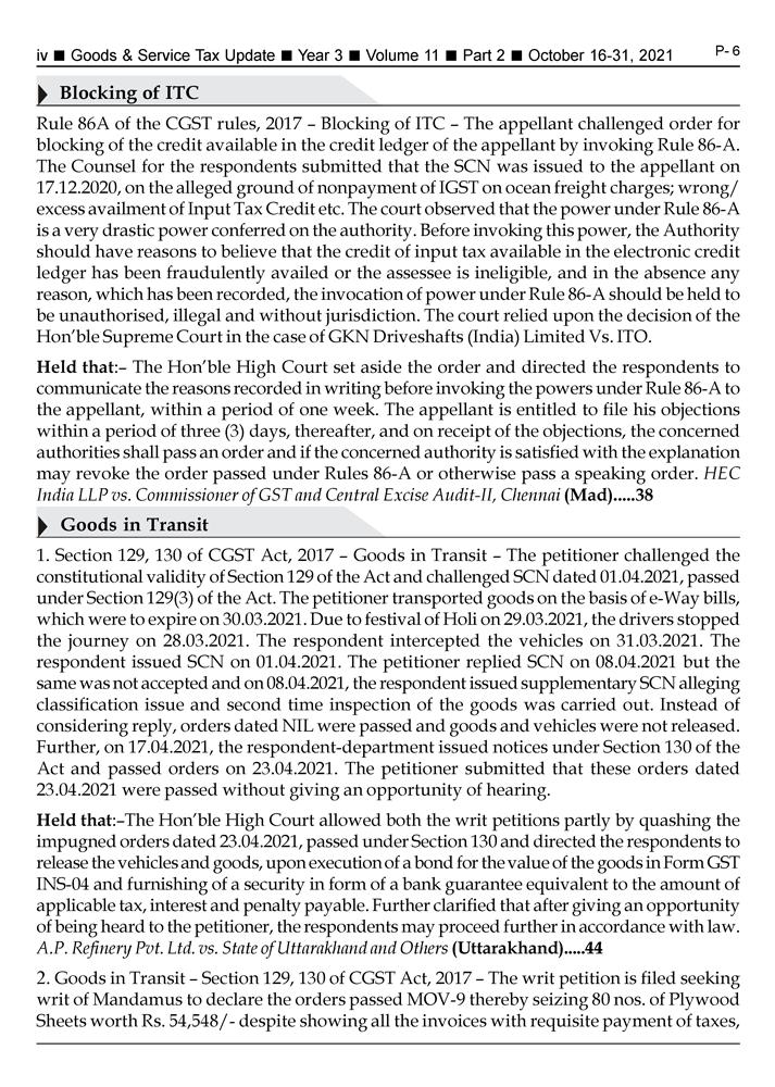 GST-Tax Update Magazine Page 4