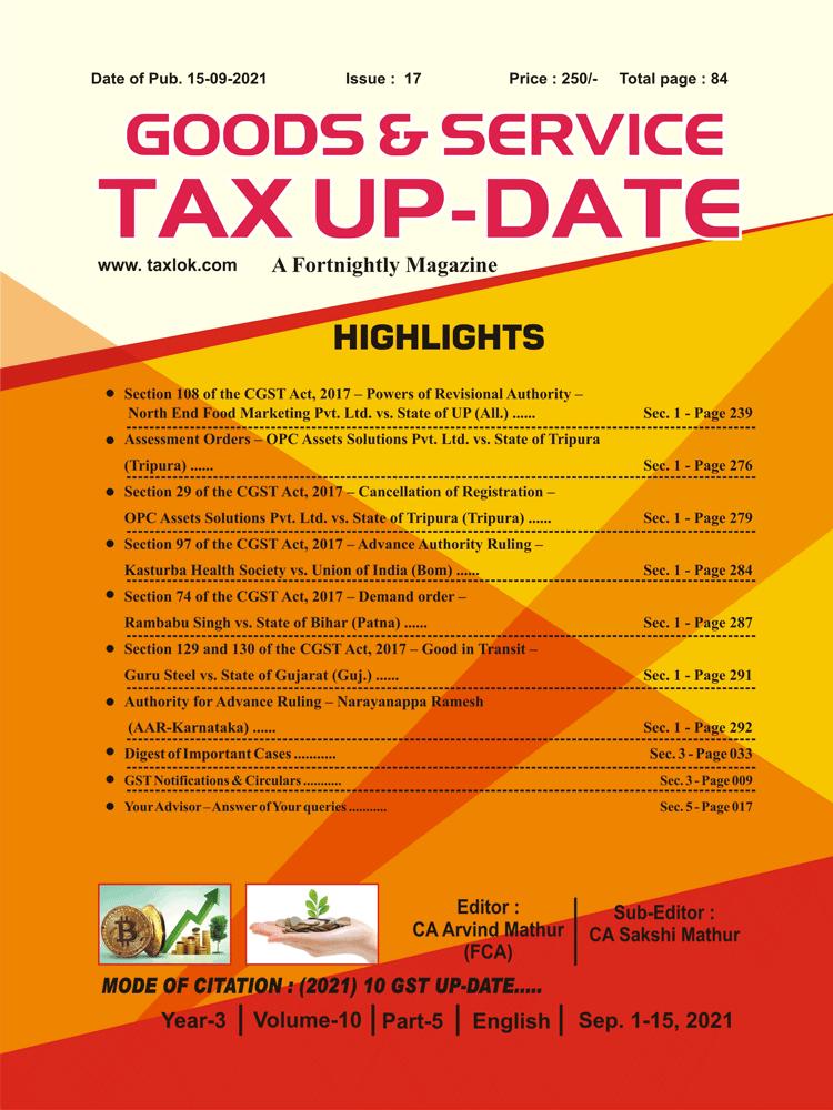 GST-Tax Update Magazine Cover
